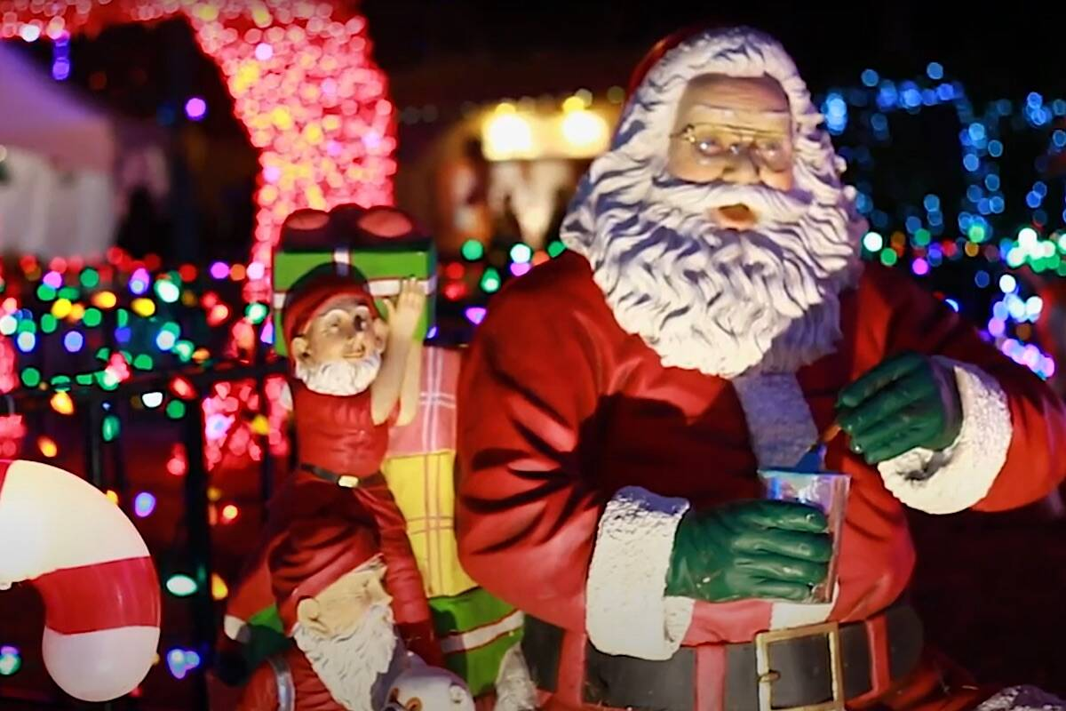A scene from Bright Nights in Stanley Park promo video.