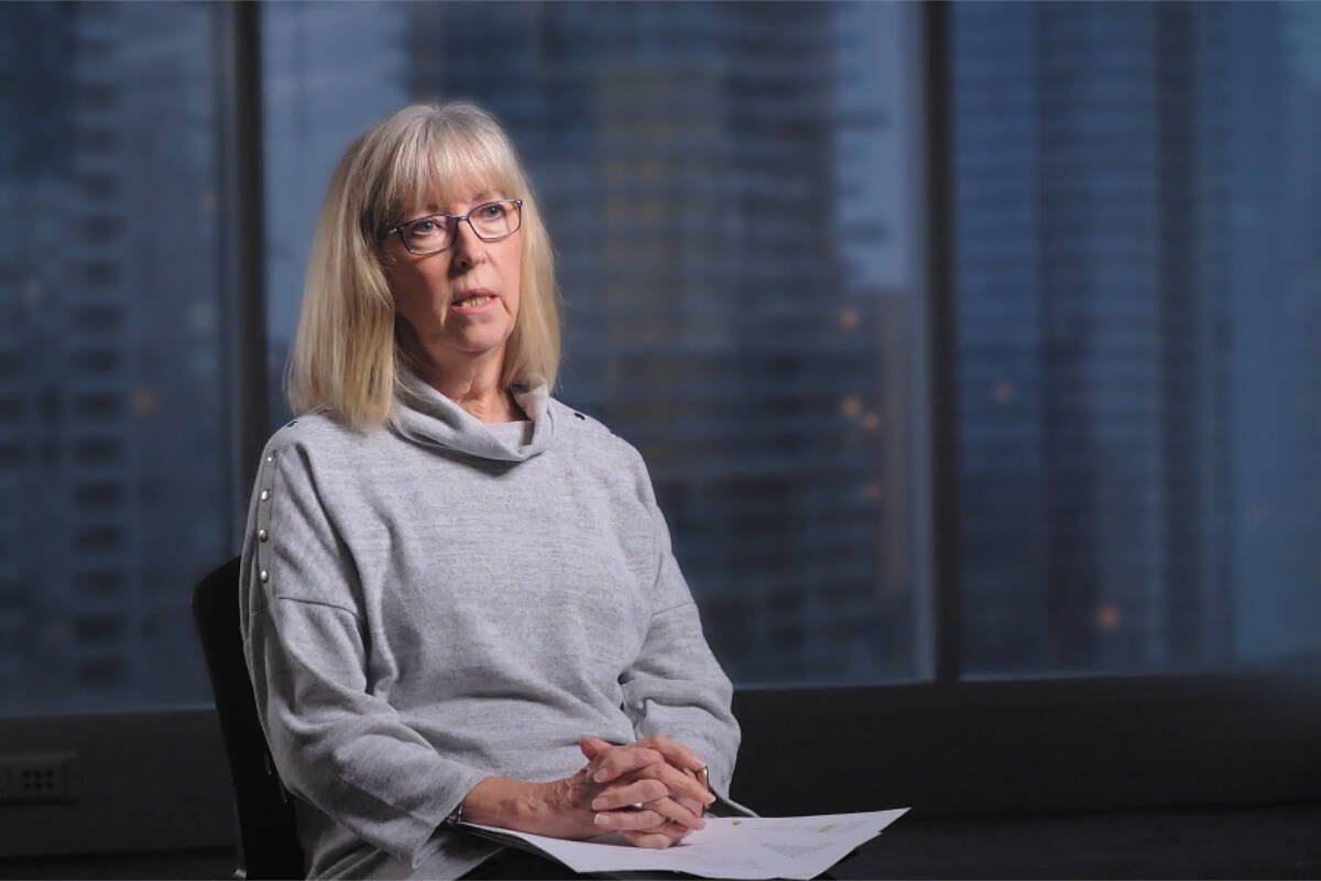 Debra Hauptman, the retired CEO of Langley Lodge, is one of the people interviewed in a new documentary about COVID-19 in care homes. (Crisis in Care)