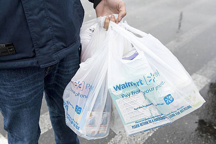 Grocery bags and other retail point-of-sale bags are the target of B.C.'s legislation. (Yukon News photo)