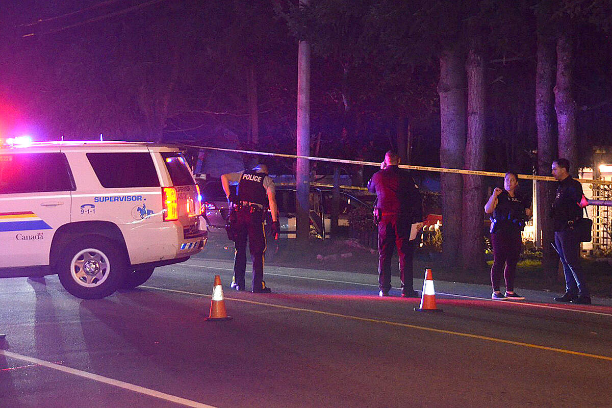 Mounties shut down 200th Street in South Langley after after a Delta PD-involved shooting on Oct. 7, 2020. The IIO said the officers did not (Curtis Kreklau/South Fraser News Services)
