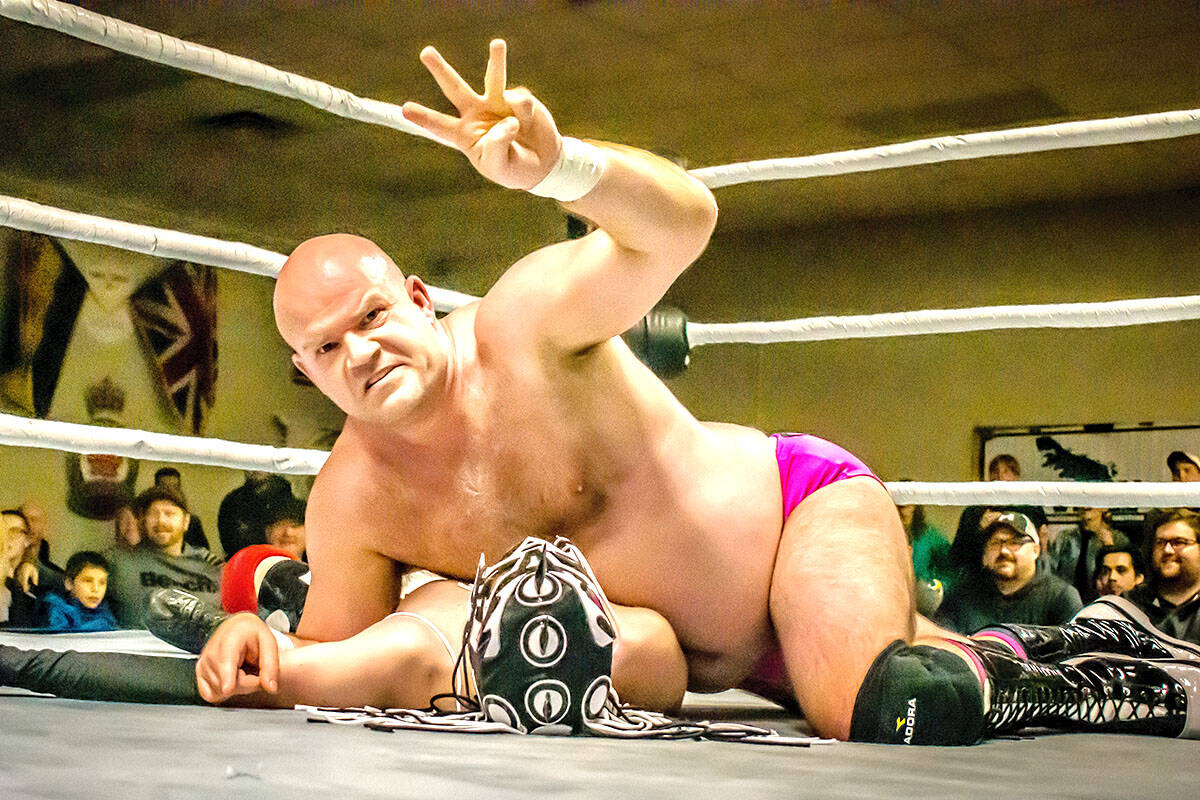 Vance Nevada wrestling for a professional title. (Vance Nevada/Special to The Star)